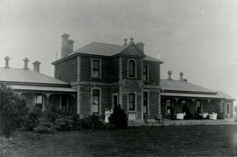 Seddon Memorial Hospital circa 1914 courtesy of the Gore Historical Museum